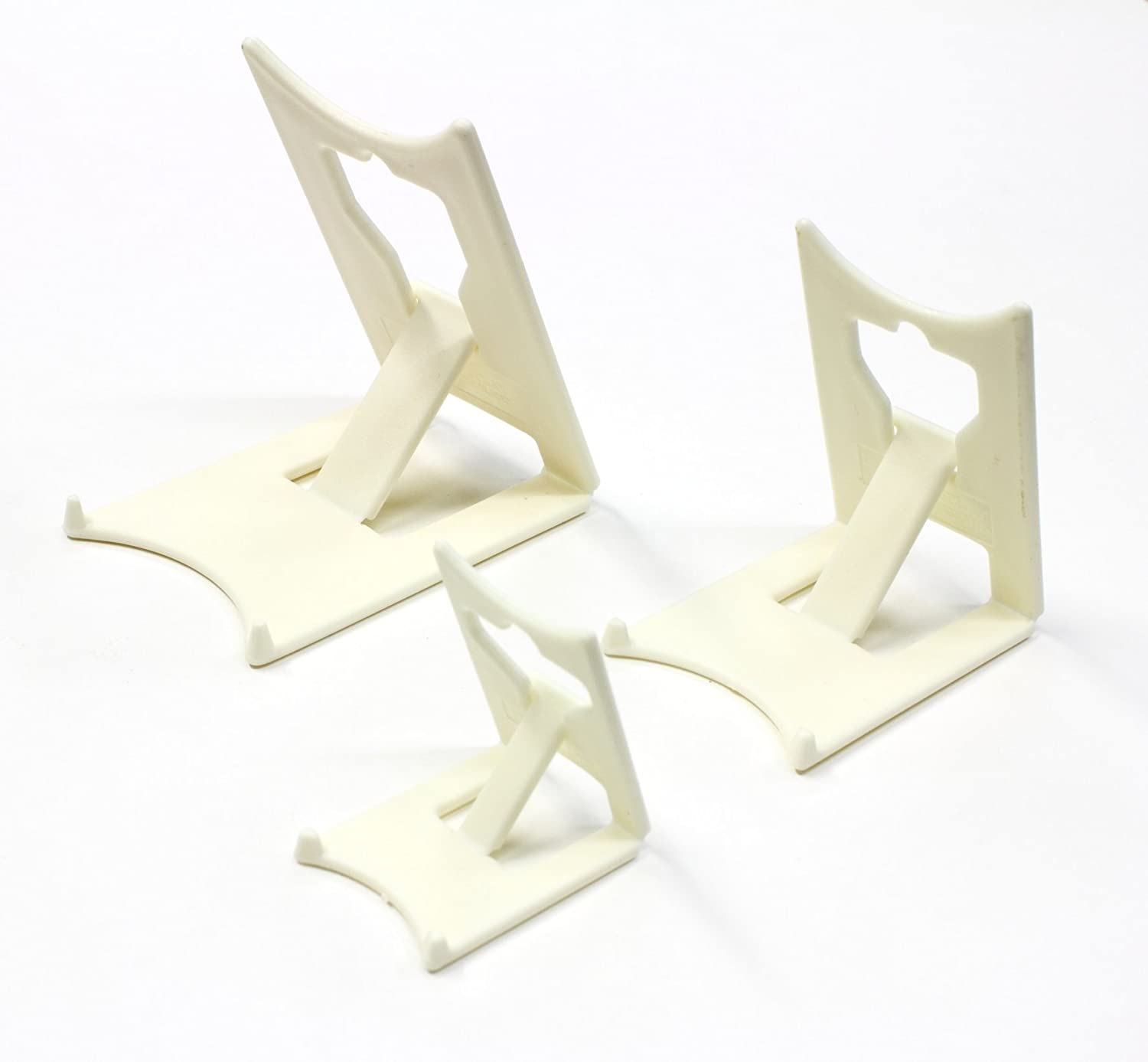 Display Stand : Clip Large Ivory Plastic x 2 : Plate Support (Twin Pack) Leeds Display