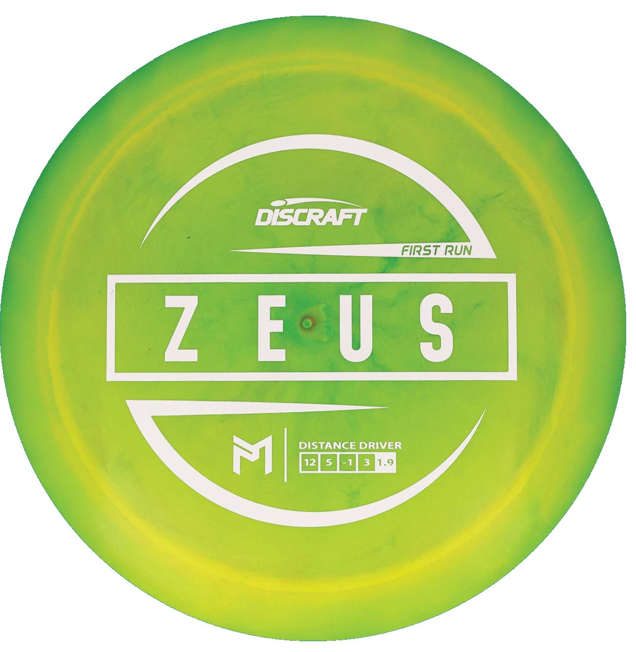 Discraft Limited Edition Paul McBeth Signature First Run Elite Z Zeus Distance Driver Golf Disc [Colors May Vary] - 167-169g