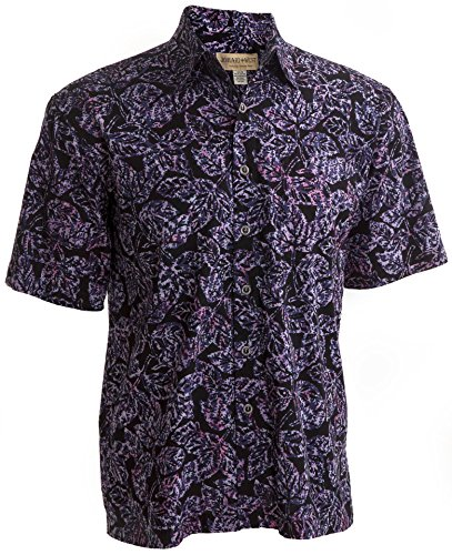 Johari West ST Kitts Sunset Tropical Hawaiian Batik Cotton Shirt by