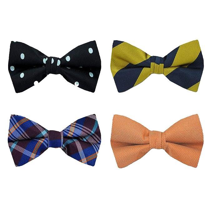 8031408b2f41 FBT-PK-103 - Mens Silk Designer Pattern Self Tie Bow Tie Ties Assorted