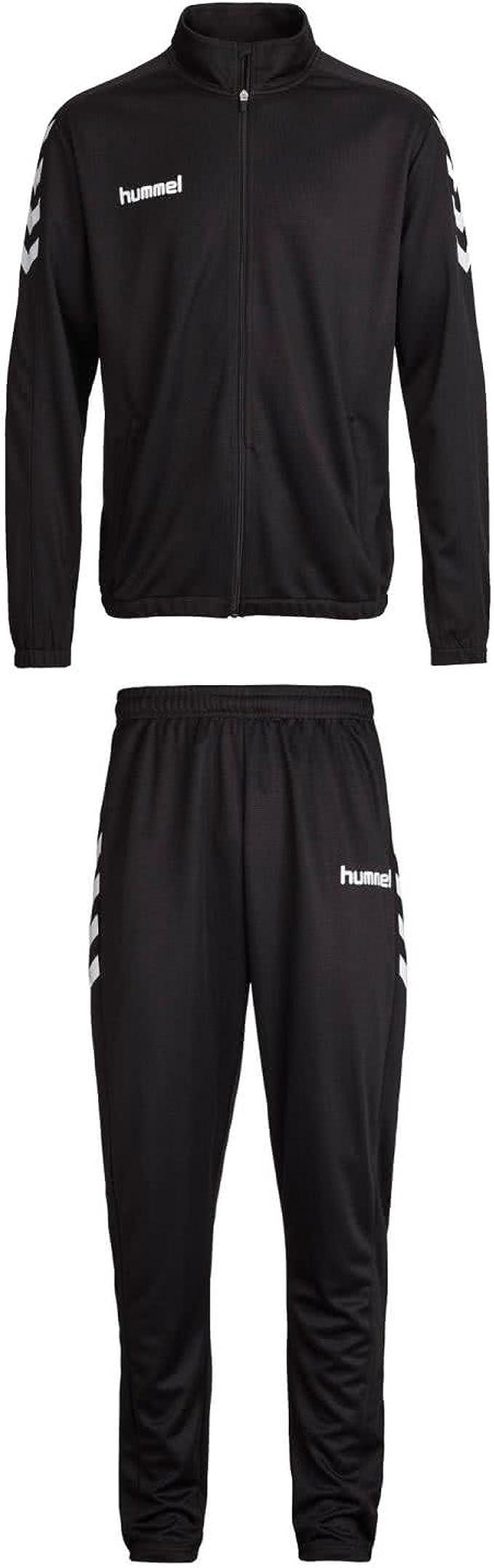 Hummel – Chándal para Hombre Core Poly Suit 36893 + 32173 Negro ...