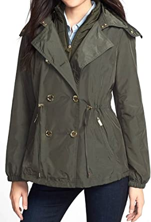 Michael Michael Kors Double Breasted Anorak with Detachable