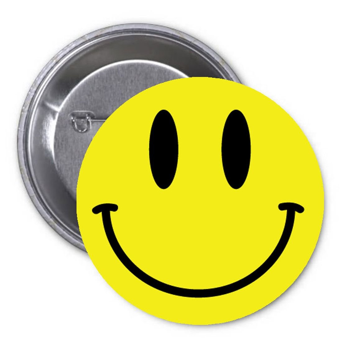 Retro Smiley Face Yellow 1.25 Pinback Button Pin Costume Accessory