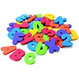 Lalang 36PCS Numbers and Letters Puzzle Bath Toys