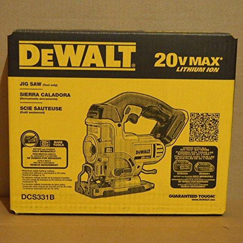 Brand New DEWALT DCS331B 20-volt Max Li-Ion Cordless Variable Speed Jig Saw ;PO#44T-KH/435 H25W3324565 (Li Ion Jigsaw)