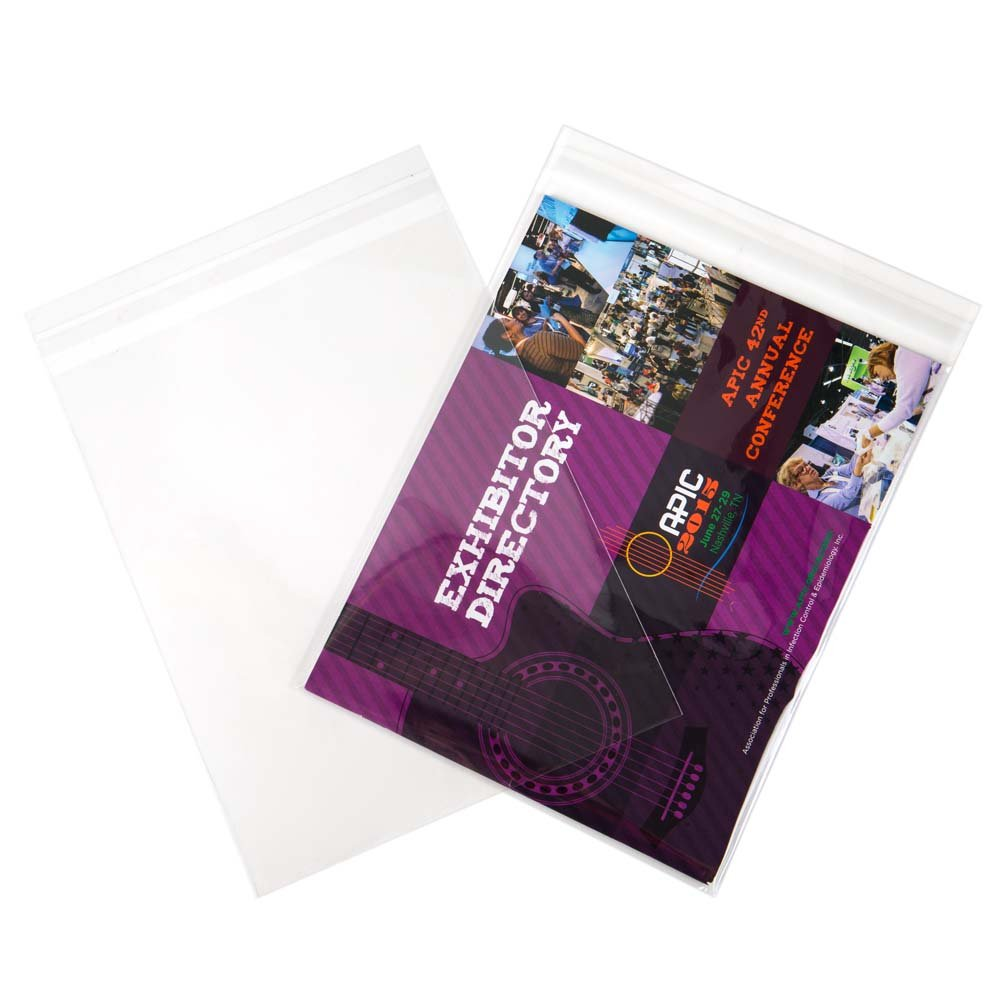 ClearBags 9 x 11 Clear Cello Bags   Resealable Adhesive on Flap, Not Bag   Great for Candy, Cookies, and Party Favors   Safe Storage of Documents, Pictures, Etc   FDA Approved   B811A (Pack of 100)