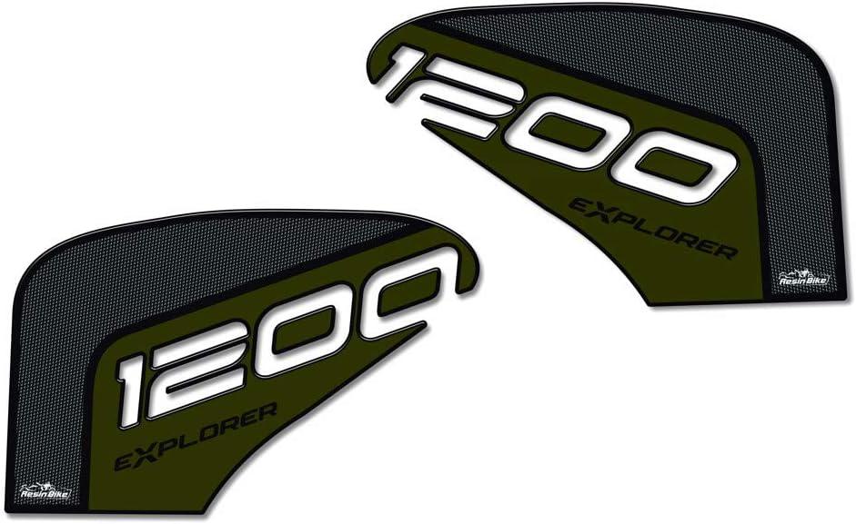Adh/ésifs 3D Protections Lat/éral R/éservoir pour Triumph Tiger Explorer 1200-2016-2017 M/étal Vert