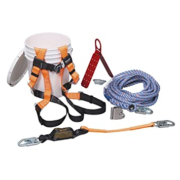 Miller by Honeywell BRFK75/75FT 75-Feet an ReadyRoofer Fall ... on wire harness assembly, wire restraints, wire barrels, wire gloves, wire straps, wire protection, wire harnessing, wire lanyards, wire harness design,