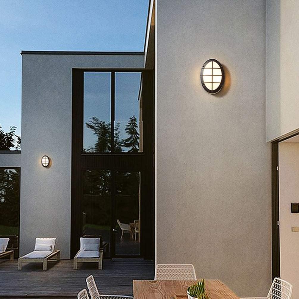 LED Aussenleuchte mit Bewegungsmelder, Schwarz Rund Aussenwandleuchte, Rund Außen-Deckenleuchte, Dämmerungssensor, 24Watt, IP54-geschützt, Lackiertes Aluminium, 280mm im Durchmesser,Kaltweiße Warmweiß