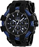 Invicta Men's 'Bolt' Quartz Stainless Steel and Silicone Casual Watch, Color:Black (Model: 23868)