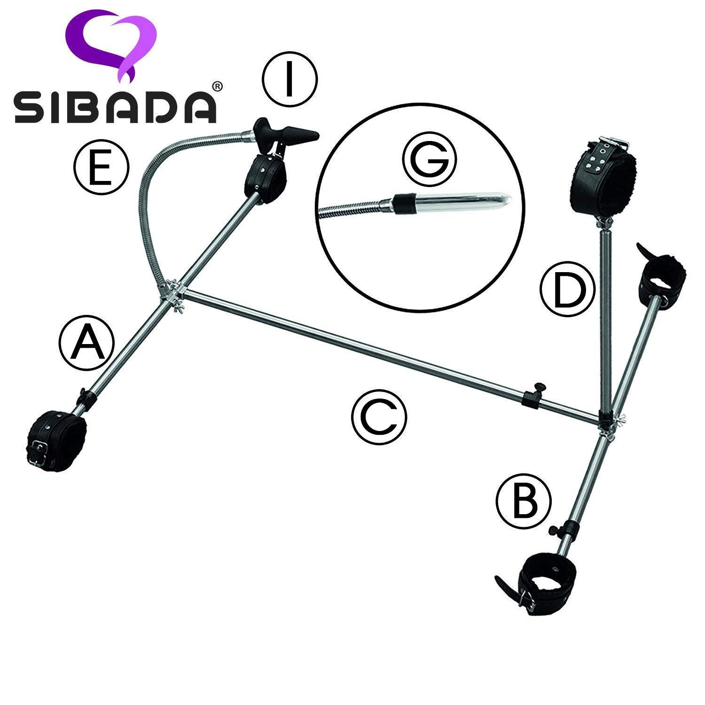 Sibada System Verbindungsstange f/ür Alliga Spreizstangen zur werkzeuglosen Bodenpranger Montage