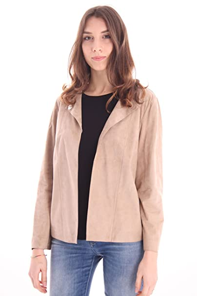 Chaqueta beige mujer
