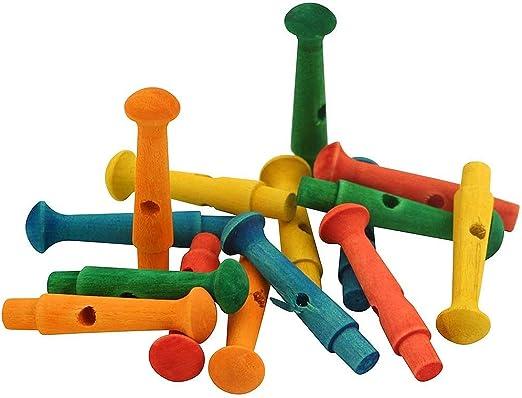 Tacos de color madera – pinzas Parrot juguete parte – Pack de 15: Amazon.es: Productos para mascotas