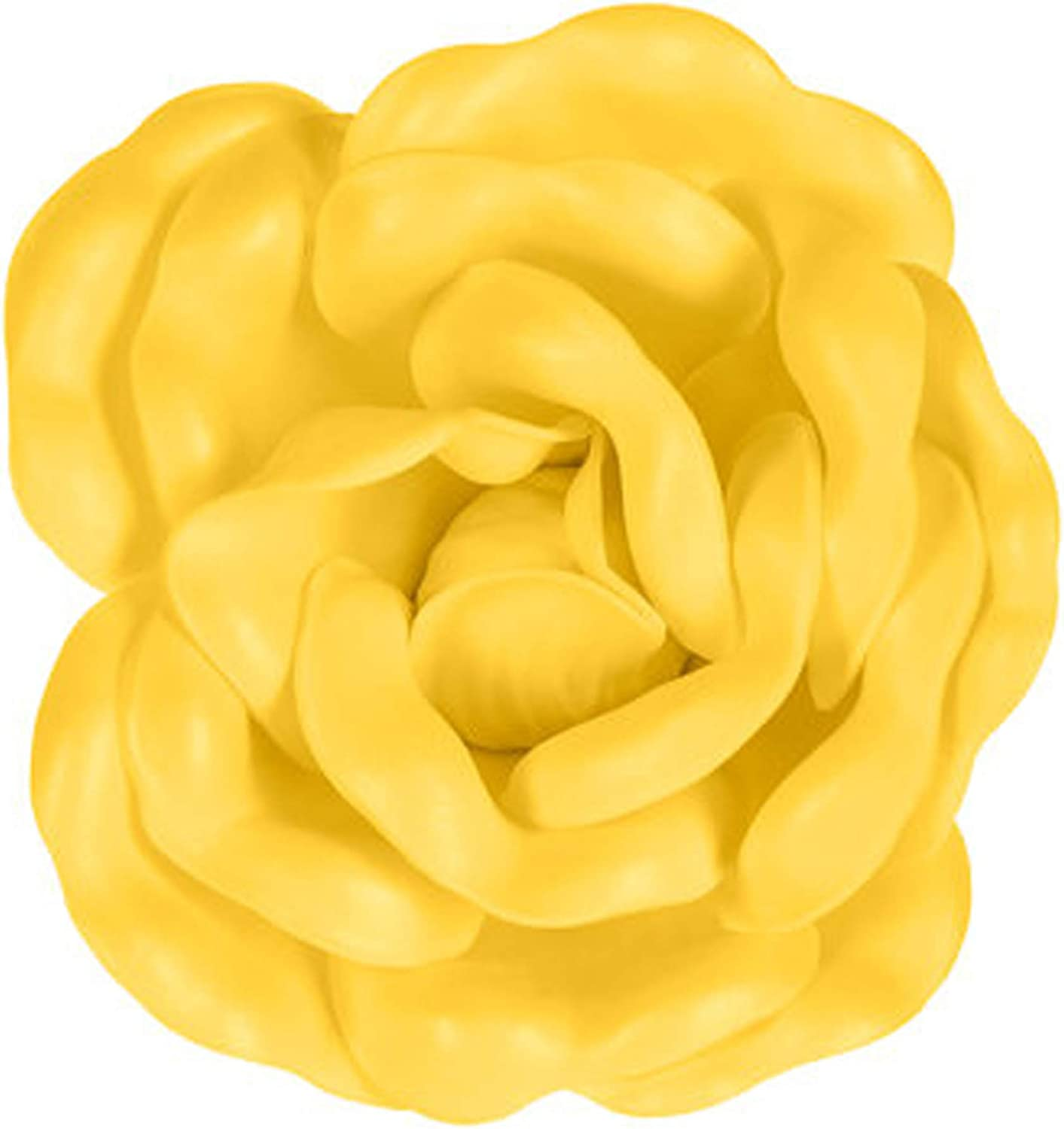 Home Collection Decorative Yellow Flower Adhesive Wall Decor - Small for Home, Gallery Walls, Office Walls or Any Event Decorations, 4 in W