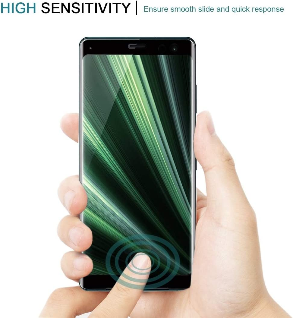 GUOHUN Screen Protector Protective 25 PCS 9H 3D Curved Full Screen Tempered Glass Film for Sony Xperia XZ3 Glass Film