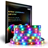 ALITOVE 16.4ft WS2812B Individually Addressable LED Strip Light 5050 RGB SMD 150 Pixels Dream Color Waterproof IP67 Black PCB