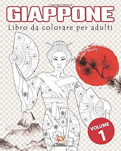 Giappone Volume 1 Libro Da Colorare Per Adulti Mandala Anti