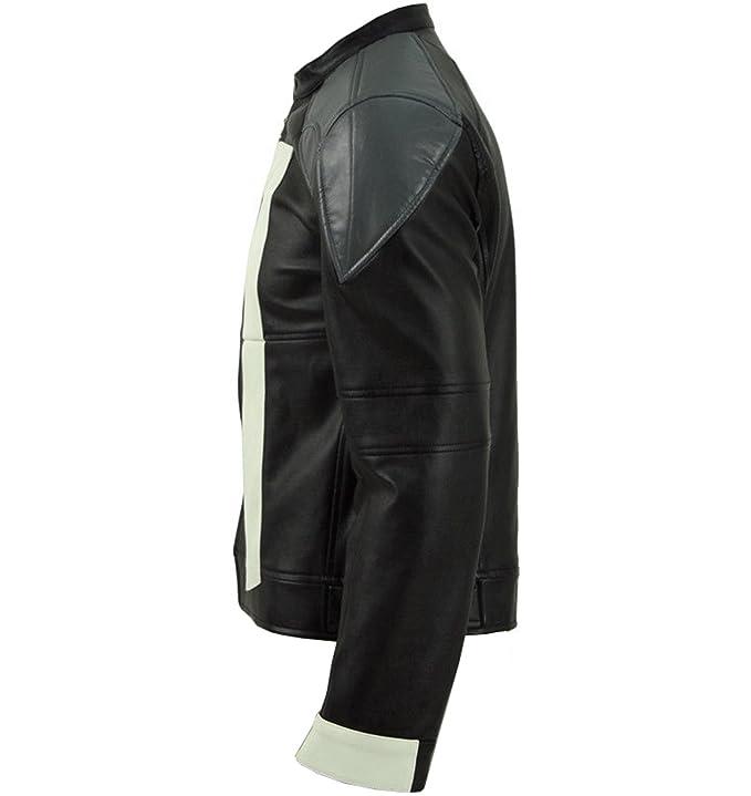 Amazon.com: Ghost Rider - Chaqueta de piel auténtica para ...