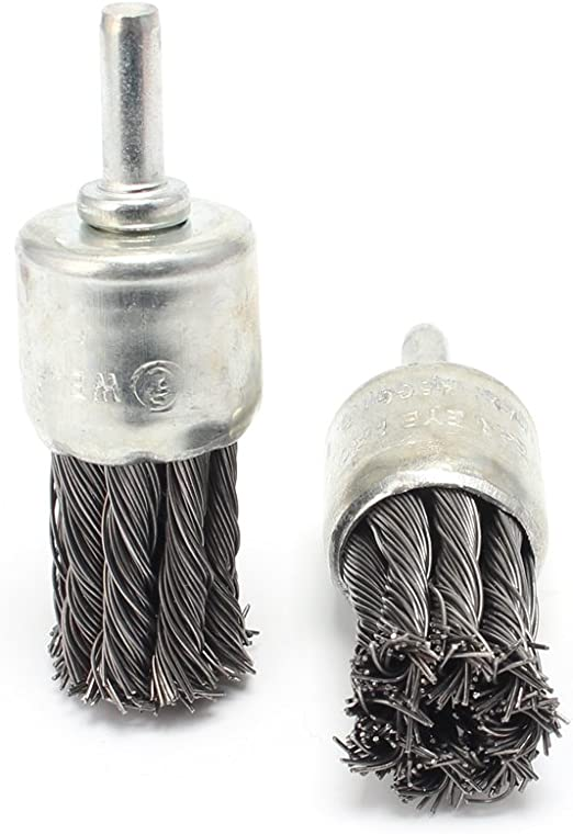 "1Inch Wire Knot End Brush Stainless Steel with 1//4/"" Shank For Die Grinder Drill"