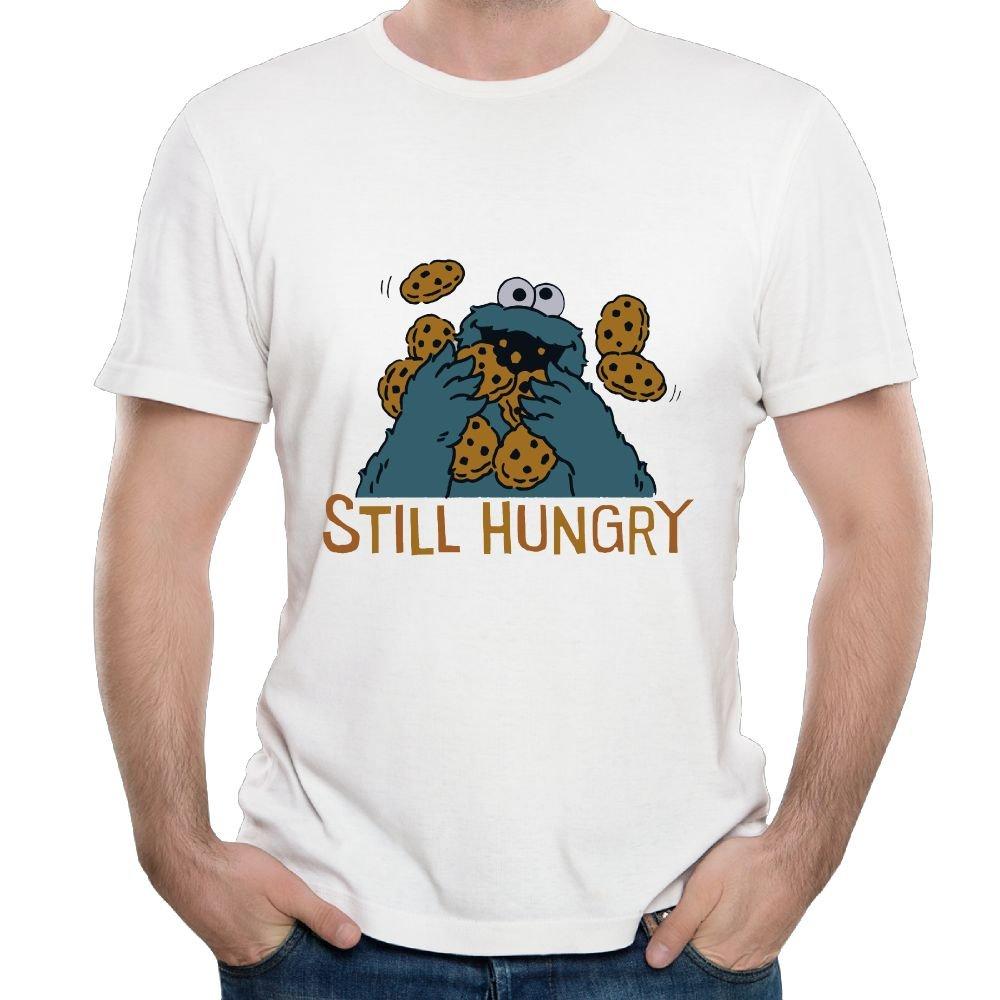 Oyavdsznq Connor Sesame Street Cookie Monster Still Hungry Leisure Running Shirt Short Sleeve