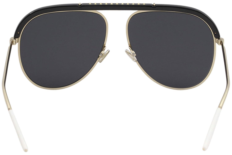 4f1e02d713 Amazon.com  Christian Dior DIORDESERTIC 02M2 2K Black Gold Aviator  Sunglasses for  Clothing