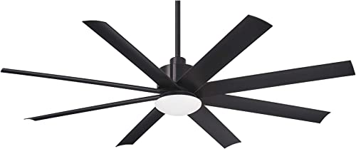 Minka Aire Slipstream 65 in. Integrated LED Indoor/Outdoor Coal Ceiling Fan