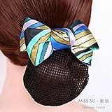 usongs ABC green stripes custom professional head flower hair accessories hairnet hairpin nurse stewardess mobile banking Hotels