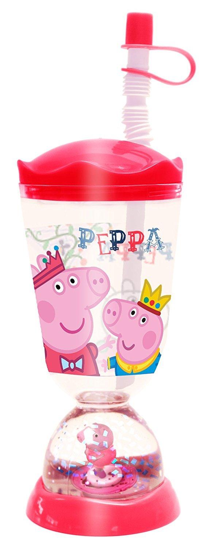 Amazon.com: Peppa Pig Princess Peppa King George Snowglobe Sippy Cup ...