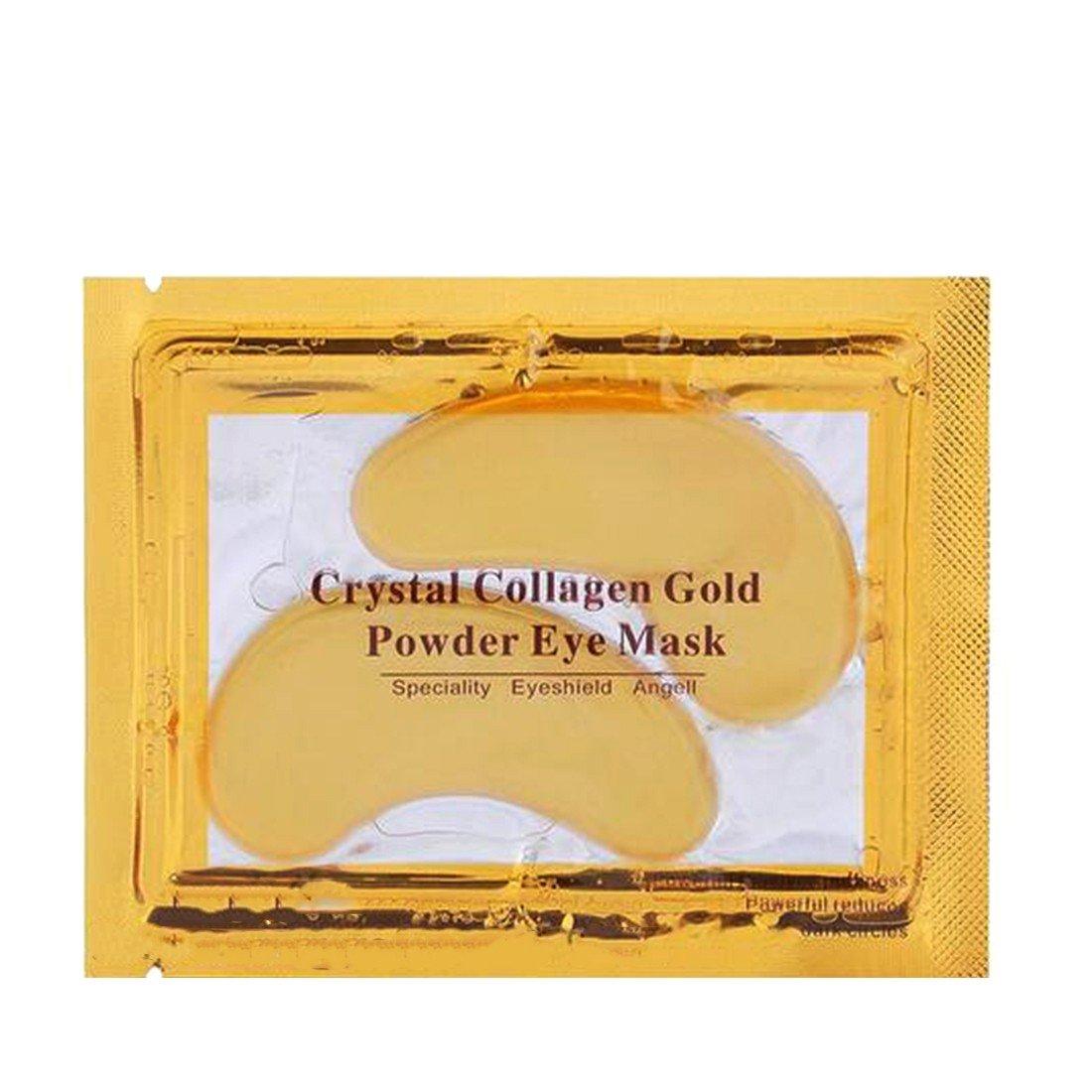 Bequeme Frauen 10pcs Goldkristallkollagen Augen Schablonen Augen Patches Skin Care CY-Buity