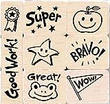 Hero Arts Woodblock Stamp Set, Bravo for Teacher