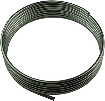.375 Roll//Coil of 3//8 Fuel Line Tubing Zinc Plated O.D