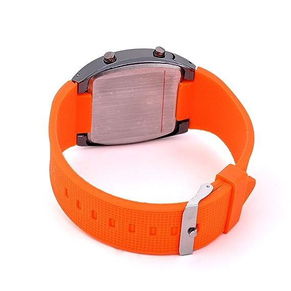 Unisex reloj de los deportes reloj de estilo LED Digital reloj de pulsera Reloj fresco único reloj de moda reloj (White): Amazon.es: Relojes