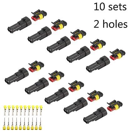 AMP SEAL 2,8 Stecker 3pol wasserdicht er Stecker Steckverbinder 1,5-2,5mm² Kfz
