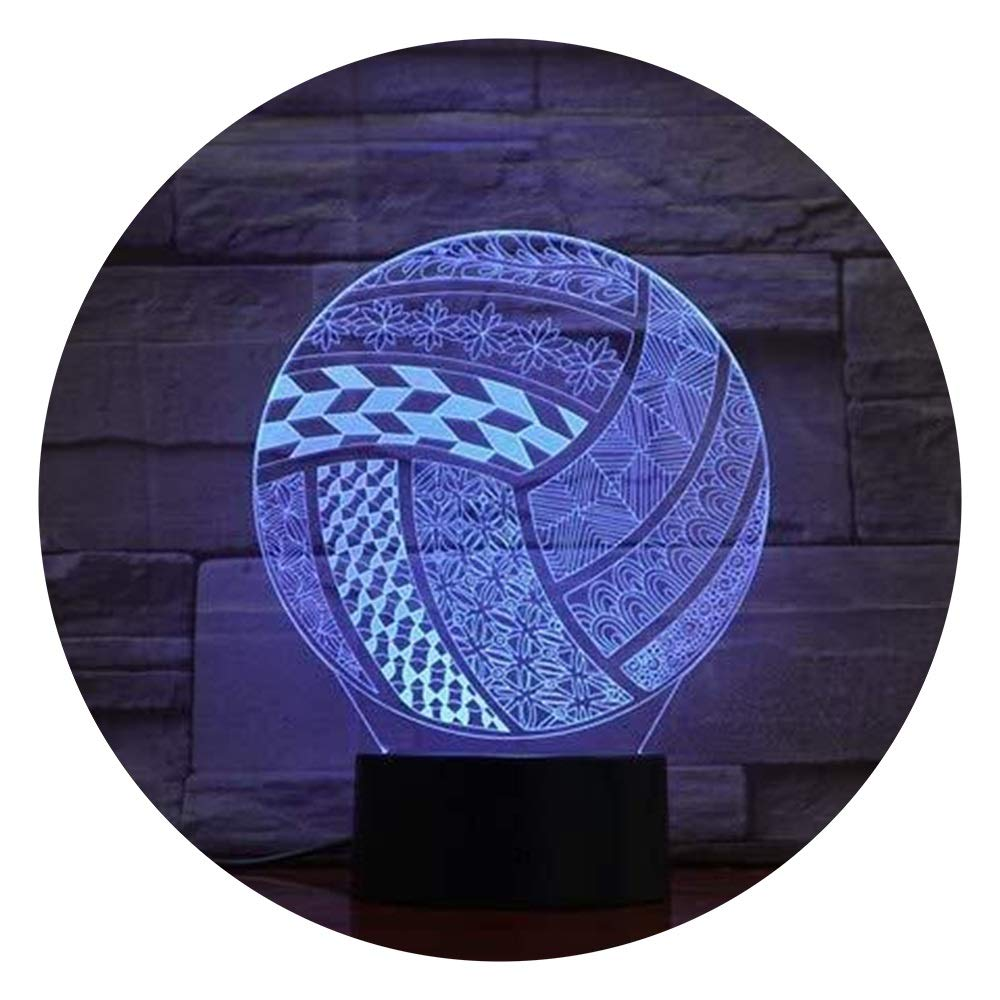 JINXUXIONGDI Visual Stereo Vision 3D Led Night Light Volleyball with Amazing Illusion 7 Colors of Lights for Home Decoration Lights Children's Decoration