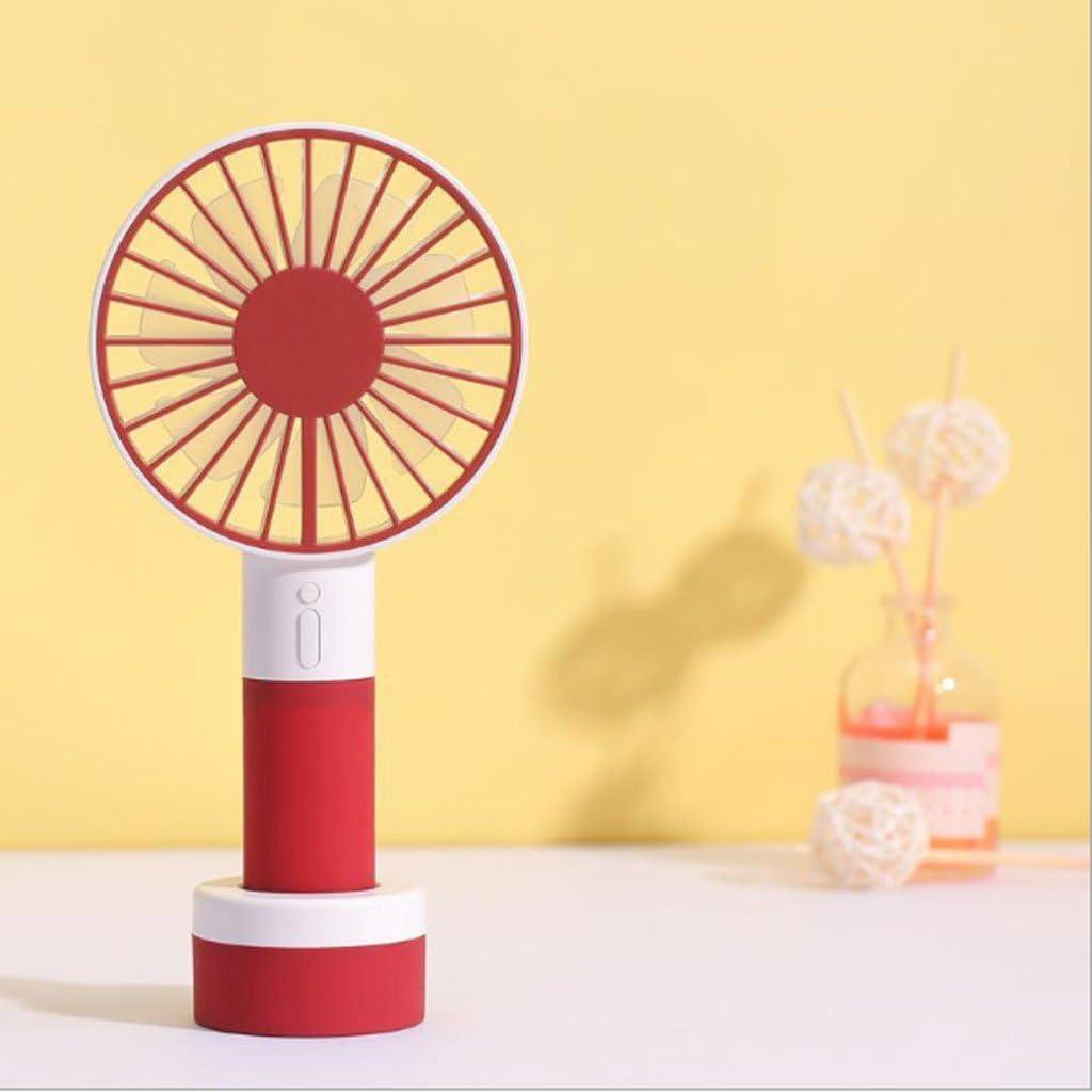 Student Dormitory Family Travel Outdoor Mini Fan Air Circulator Color : Red LittleBeauty Ultra-Quiet USB Fan Lantern Mini Fan Handheld Mini Fan LED Lantern Nightlight Portable Fan