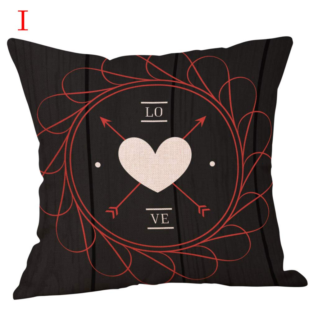 Amazon.com: Throw Pillow Cover, DaySeventh Happy Valentines ...