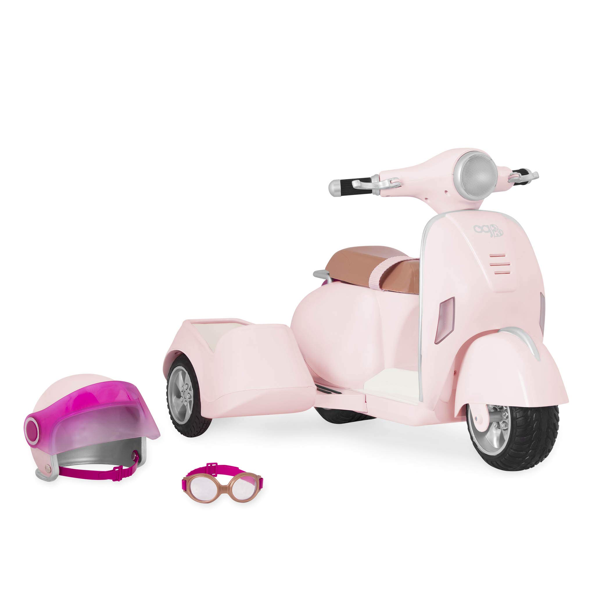 Our Generation Vespa with Side Car Lights Horn by Our Generation