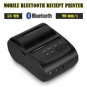Mini Wireless Impresora térmica 58 mm 90 mm/s usb bluetooth ...