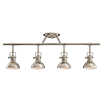 industrial track lighting. Kichler 7050PN Three Light Rail - Close To Ceiling Fixtures Amazon.com Industrial Track Lighting A