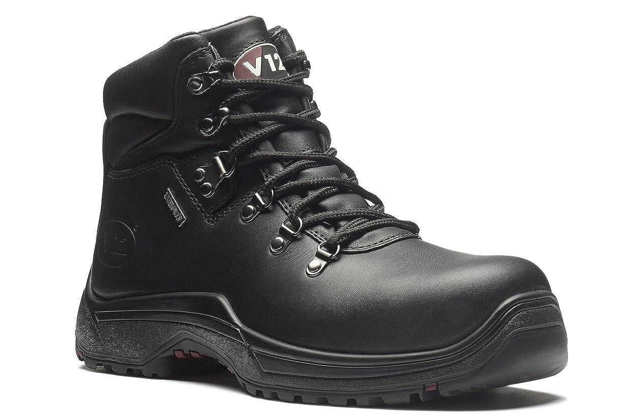 V12 Thunder IGS Safety Work Boots Black Leather S3 Waterproof V1215.01 6-13