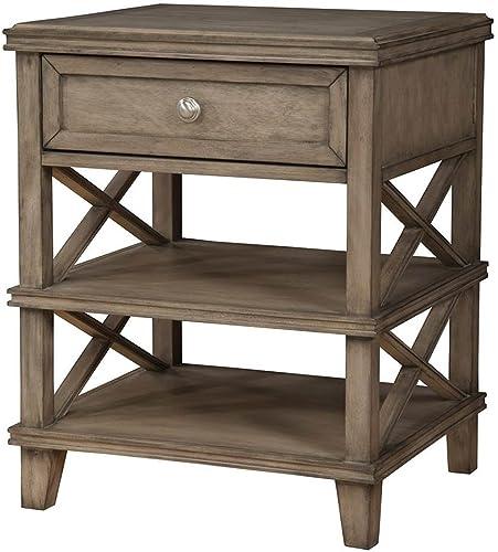 Alpine Furniture Potter 1 Drawer Nightstand, French Truffle