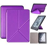 Capa Kindle 10ª geração com iluminação embutida – Auto Hibernação – Fecho Magnético – Origami - Roxa