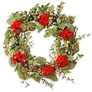 National Tree Company 32 in. Mixed Flower Spring Wreath 64