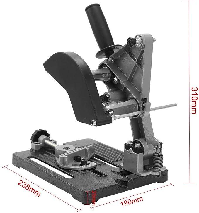 S SMAUTOP Amoladora Soporte de soporte 100-125mm Base de hierro /Ángulo Amoladora Soporte /Ángulo de fundici/ón Amoladora Soporte de soporte Accesorio (Plata)