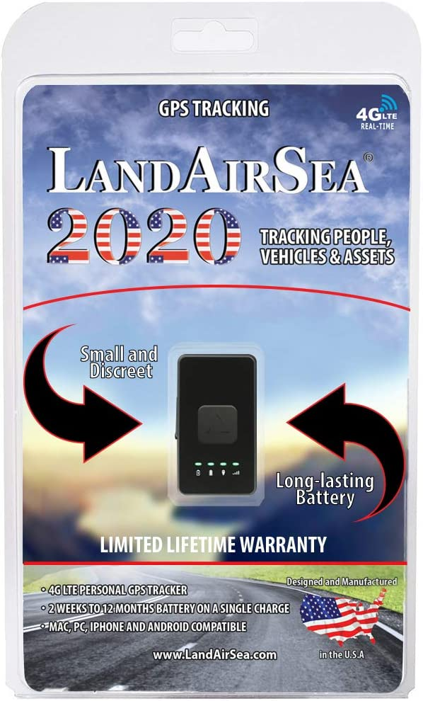 LandAirSea 2020 Real-Time 4G LTE GPS Tracker for Personal, Vehicle and Asset Location Tracking USA Version – Monthly Subscription Required