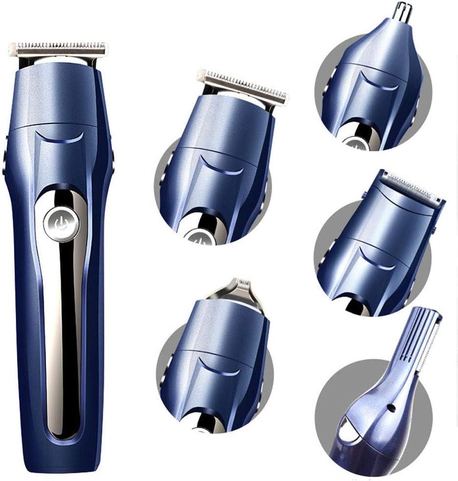 FLOR FALSA Afeitadora Electrica Hombre, Afeitadora Barba IP7 Impermeable Maquina De Afeitar 5 En 1, Eléctrico Maquina Afeitar Recortador Barba/Nariz/Cabeza/Cara/Cuerpo, USB Carga Rápida: Amazon.es: Hogar