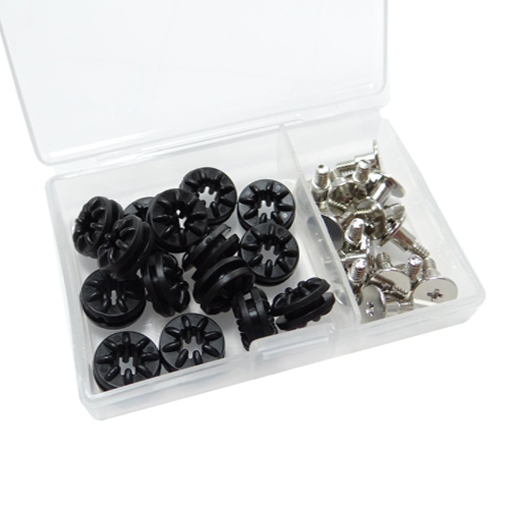 Akust Rubber Anti-Vibration Grommet Ring with #6-32 Screw 16 PCS