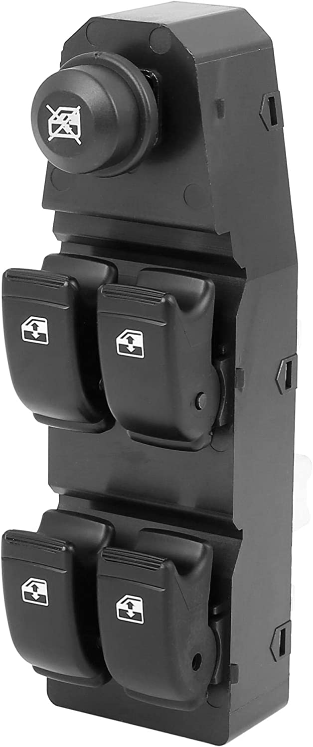X AUTOHAUX 202005158 Power Window Switch Front Driver Left Side for Chevrolet Aveo Aveo5