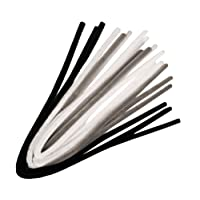 10 Assorted Black & White Tones Extra Long & Thick Craft Pipe Cleaners