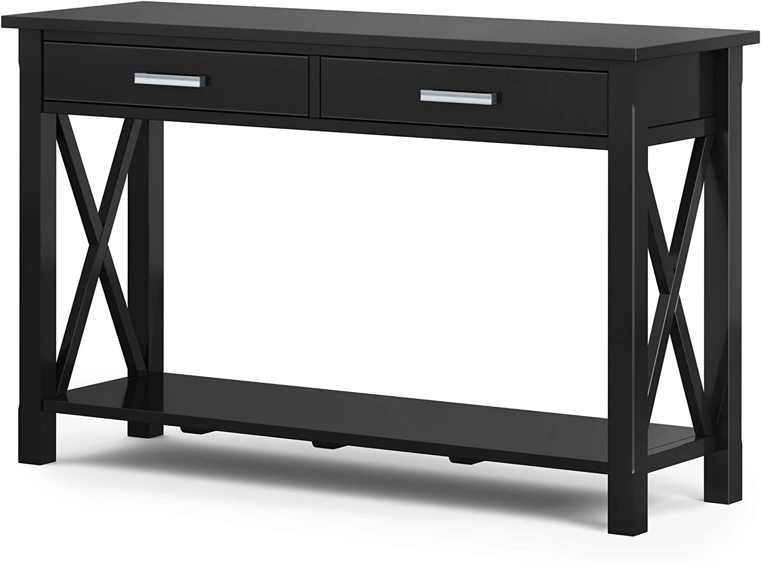 Providence Solid Wood 47 inch Wide Contemporary Console Sofa Table (Black)